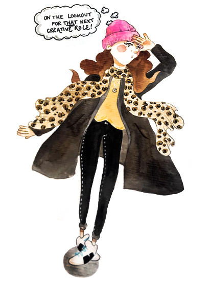 Pink hat -
